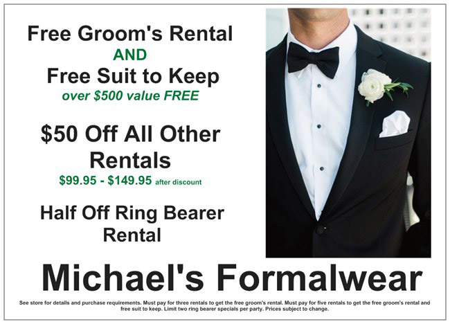 Tuxedos Special offers